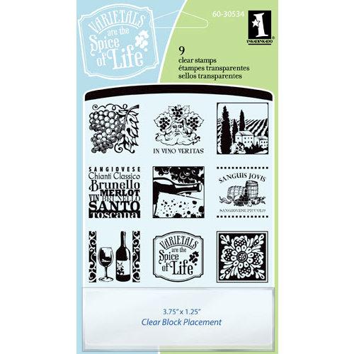 Inkadinkado - Clear Acrylic Stamp Set with Acrylic Block - Tuscany