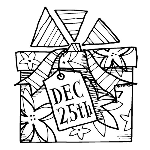 Inkadinkado - Christmas - Clear Acrylic Stamps - Mini Dec 25th