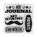 Inkadinkado - Clear Acrylic Stamps - Mini Personal Stache
