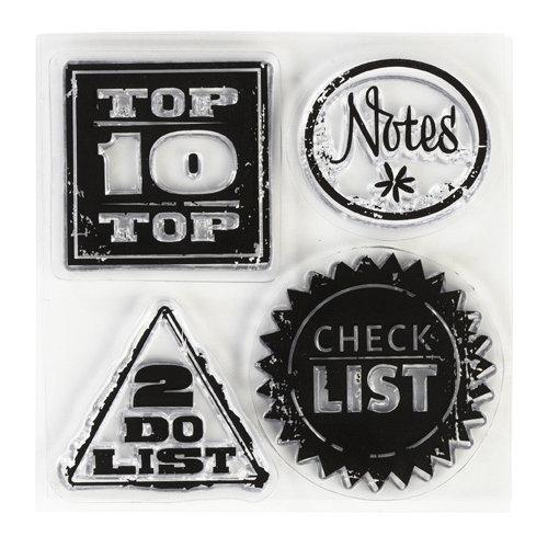 Inkadinkado - Clear Acrylic Stamps - Mini Lets Enumerate