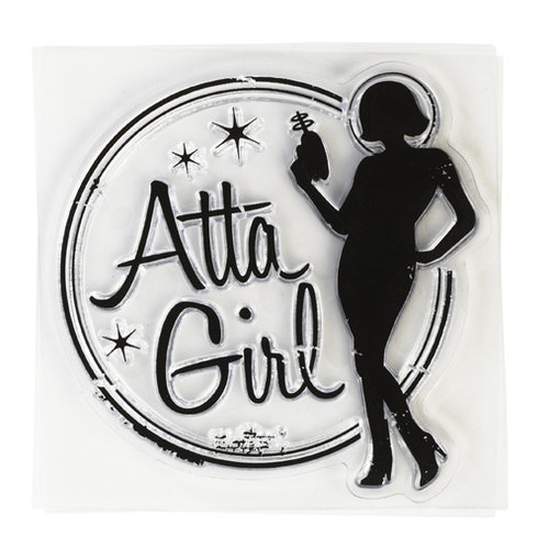 Inkadinkado - Clear Acrylic Stamps - Mini Atta Girl