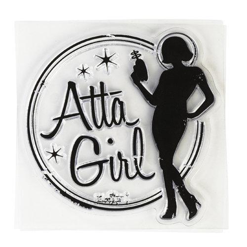 Inkadinkado - Clear Acrylic Stamps - Mini Atta Girl