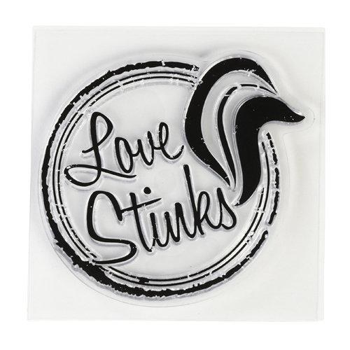 Inkadinkado - Clear Acrylic Stamps - Mini Love Stinks