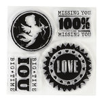 Inkadinkado - Clear Acrylic Stamps - Mini All About Love