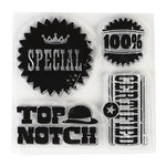 Inkadinkado - Clear Acrylic Stamps - Mini Quality is Priority