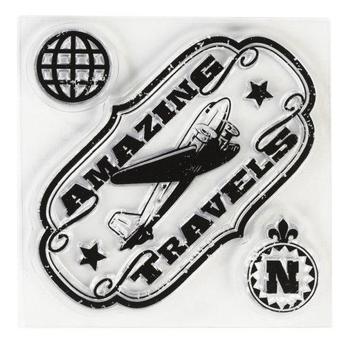 Inkadinkado - Clear Acrylic Stamps - Mini Amazing Travels