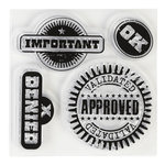 Inkadinkado - Clear Acrylic Stamps - Mini Approval Rating