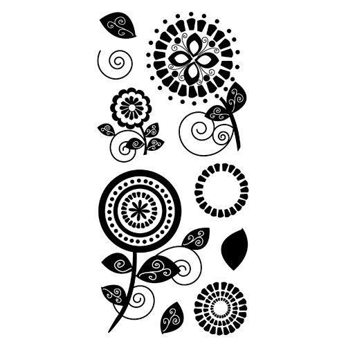 Inkadinkado - Clear Acrylic Stamps - Garden Blooms