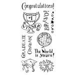 Inkadinkado - Clear Acrylic Stamps - Congratulations