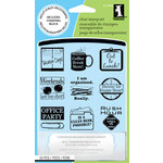 Inkadinkado - Clear Acrylic Stamp Set with Acrylic Block - Hard at Work