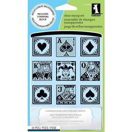 Inkadinkado - Clear Acrylic Stamp Set with Acrylic Block - The Upper Deck