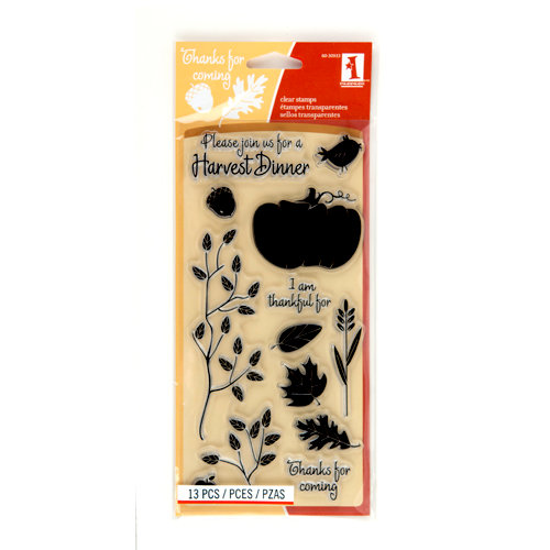 Inkadinkado - Fall Collection - Clear Acrylic Stamps - Harvest Dinner