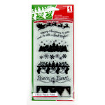 Inkadinkado - Holiday Collection - Christmas - Clear Acrylic Stamps - Holiday Silhouette