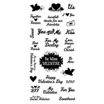 Inkadinkado - Valentine's Day Collection - Clear Acrylic Stamps - You and Me