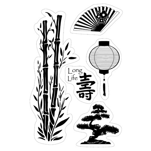 Inkadinkado - Inkadinkaclings Collection - Rubber Stamps - Asian