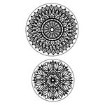 Inkadinkado - Inkadinkaclings Collection - Rubber Stamps - Lace Doilies