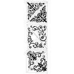 Inkadinkado - Inkadinkaclings Collection - Rubber Stamps - Decorative Corners