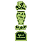 Inkadinkado - Inkadinkaclings Collection - Halloween - Rubber Stamps - Scary Phrases