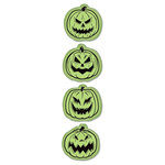 Inkadinkado - Inkadinkaclings Collection - Halloween - Rubber Stamps - Scary Pumpkins