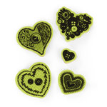 Inkadinkado - Valentine's Day Collection - Inkadinkaclings - Rubber Stamps - Sewing Hearts