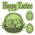 Inkadinkado - Easter Collection - Inkadinkaclings - Rubber Stamps - Happy Easter