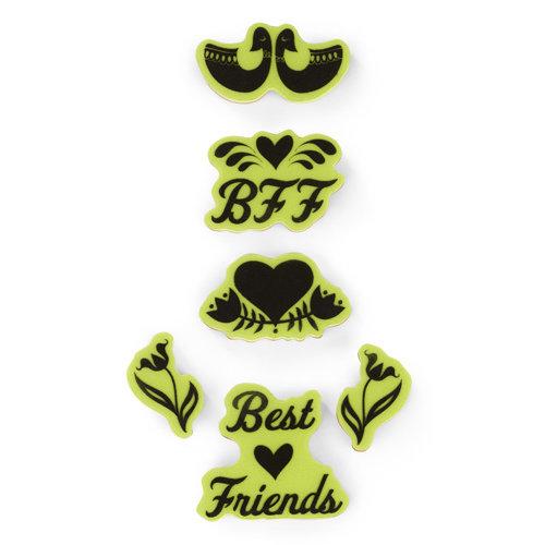 Inkadinkado - Valentine's Day Collection - Inkadinkaclings - Rubber Stamps - Folk Best Friends