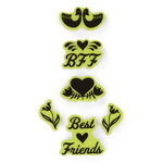 Inkadinkado - Valentine's Day Collection - Inkadinkaclings - Rubber Stamps - Folk Best Friends