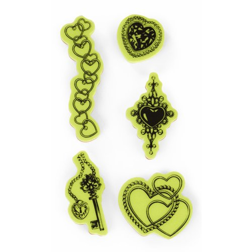 Inkadinkado - Valentine's Day Collection - Inkadinkaclings - Rubber Stamps - The Jewelry and Hearts