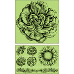 Inkadinkado - Background Clings Collection - Rubber Stamps - Large - Vintage Floral