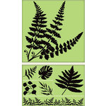 Inkadinkado - Background Clings Collection - Rubber Stamps - Large - Ferns