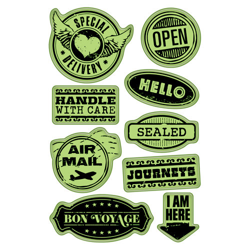 Inkadinkado - Inkadinkaclings - Rubber Stamps - Delivery Labels