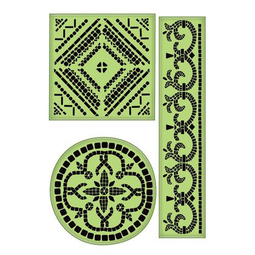 Inkadinkado - Inkadinkaclings - Rubber Stamps - Large Mosaics