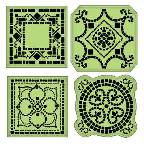 Inkadinkado - Inkadinkaclings - Rubber Stamps - Mosaic Tiles