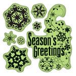 Inkadinkado - Inkadinkaclings - Rubber Stamps - Snowflakes