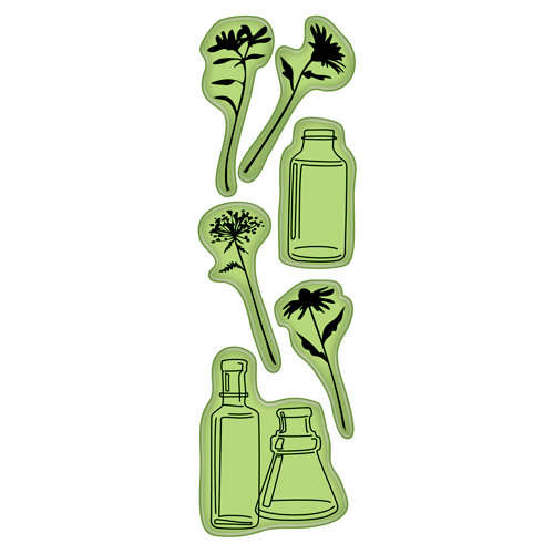Inkadinkado - Inkadinkaclings - Rubber Stamps - Arrange a Bottle