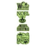 Inkadinkado - Inkadinkaclings - Rubber Stamps - Holiday Expressions