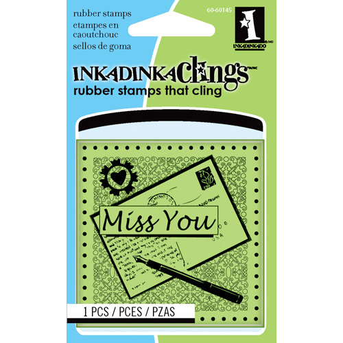 Inkadinkado - Inkadinkaclings - Rubber Stamps - Miss You Mini