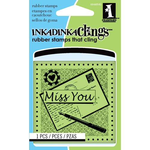 Inkadinkado - Inkadinkaclings - Rubber Stamps - Miss You Mini