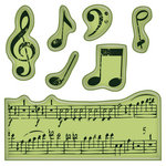 Inkadinkado - Inkadinkaclings - Rubber Stamps - Music Notes Mini
