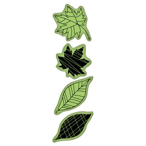 Inkadinkado - Fall Collection - Inkadinkaclings - Rubber Stamps - Fall Icons
