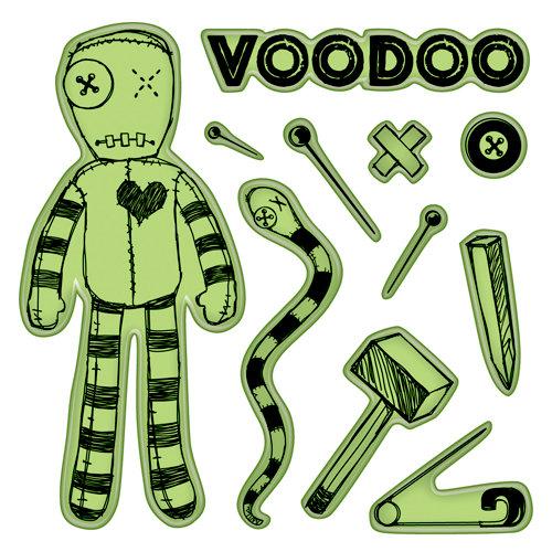 Inkadinkado - Halloween Collection - Inkadinkaclings - Rubber Stamps - Voodoo Doll