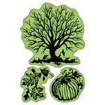 Inkadinkado - Fall Collection - Inkadinkaclings - Rubber Stamps - Papercut Fall