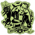 Inkadinkado - Halloween Collection - Inkadinkaclings - Rubber Stamps - Hocus Pocus