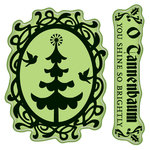 Inkadinkado - Bavarian Christmas Collection - Inkadinkaclings - Rubber Stamps - Christmas Tree Cameo