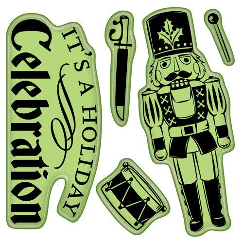 Inkadinkado - Bavarian Christmas Collection - Inkadinkaclings - Rubber Stamps - Nutcracker