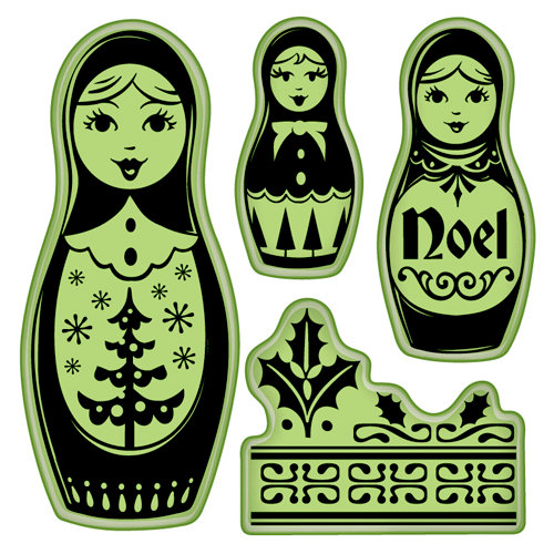 Inkadinkado - Bavarian Christmas Collection - Inkadinkaclings - Rubber Stamps - Russian Doll