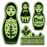 Inkadinkado - Bavarian Christmas Collection - Inkadinkaclings - Rubber Stamps - Russian Doll
