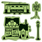 Inkadinkado - Holiday Village Collection - Christmas - Inkadinkaclings - Rubber Stamps - Village Toys and Gifts