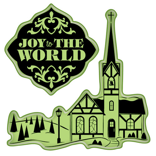 Inkadinkado - Holiday Village Collection - Christmas - Inkadinkaclings - Rubber Stamps - Village Church