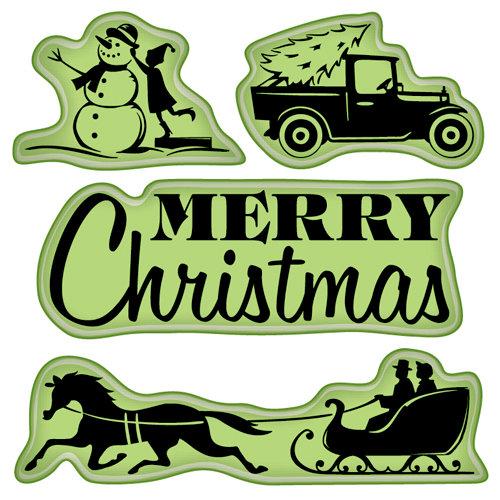 Inkadinkado - Holiday Village Collection - Christmas - Inkadinkaclings - Rubber Stamps - Village Lifestyle